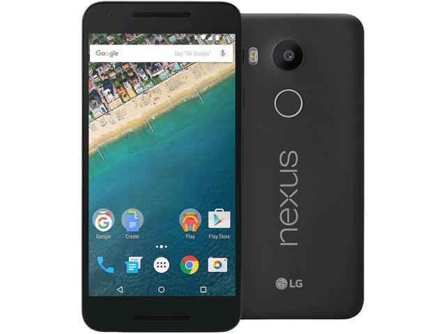 "Refurbished: LG Nexus 5X H790 32GB 4G LTE Unlocked Cell Phone, 5.2"" 2GB RAM Carbon Black, Hexa-core, No Accessory, Grade B"