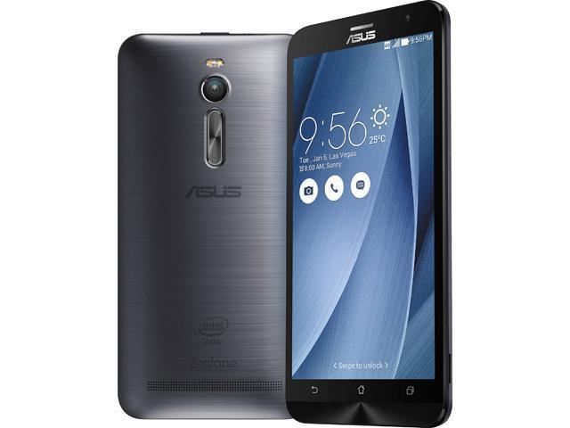 "Refurbished: Asus Zenfone 2 16GB 4G LTE Unlocked Smart Phone 5.5"" 2GB RAM Glacier Gray"