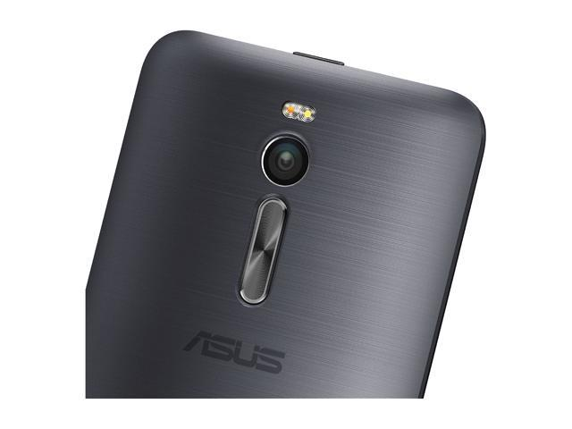 "Refurbished: Asus Zenfone 2 4G LTE Unlocked Smart Phone 5.5"" Glacier Gray 16GB 2GB RAM"
