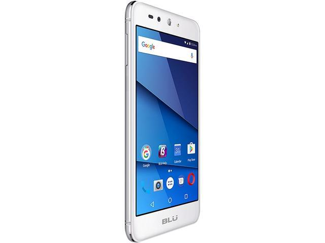 "Blu Grand X LTE G0010WW 4G LTE Unlocked GSM Dual-SIM Phone w/ 8 MP Camera 5"" Silver 8GB 1GB RAM"