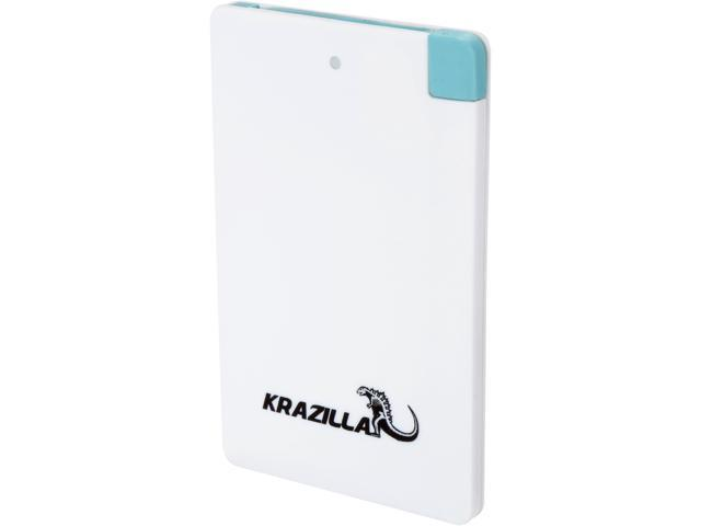 Refurbished: Krazilla White 2500 mAh Fast Charge Mobile Power Bank, Refurbished A Grade Like New Kzp1005 USB Connector for Android Phones