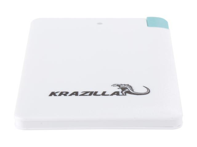Refurbished: Krazilla White 2500 mAh Fast Charge Mobile Power Bank, Kzp1005 USB Connector for Android Phones, Grade A, New Open Box
