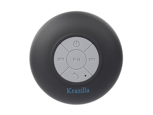 Refurbished: Krazilla KZS1008 BK Black Splash Proof Bluetooth Speaker, Open Box Like New