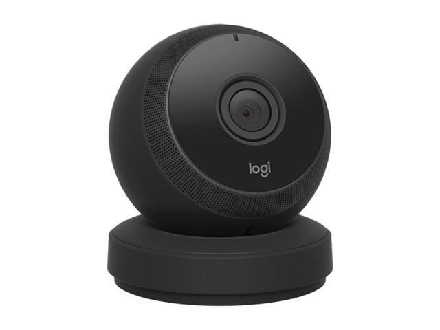 Logitech Circle Wireless Wi-Fi HD 1080p Video Battery Powered Security Camera with Free Cloud Storage and Time Lapse Day Brief - Black