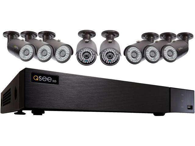 Q-See 4MP Resolution & 4K Output Surveillance Security Camera System: 8Ch. Analog HD DVR 8 x 4MP Bullet Camera (No HDD Included)