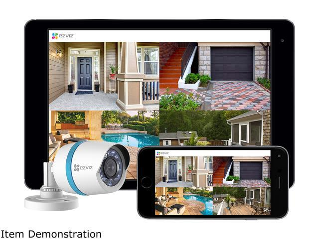 EZVIZ 8 Channel HD 1080p PoE IP NVR Security System w/ 2TB HDD and 4 Weatherproof 1080p PoE Bullet IP Cameras, Works with Alexa and Google Home Using IFTTT (BN-1824A2)