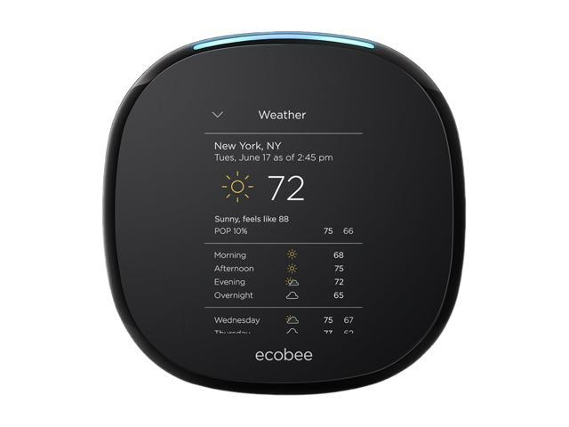 Ecobee4 Wi-Fi Thermostat w/ Room Sensor and Built-In Alexa Voice Service (EB-STATE4-01)