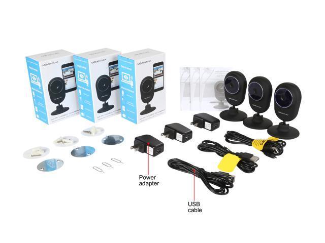 Refurbished: Momentum MOCAM-03 Wireless 3 Pack Wi-Fi Cameras