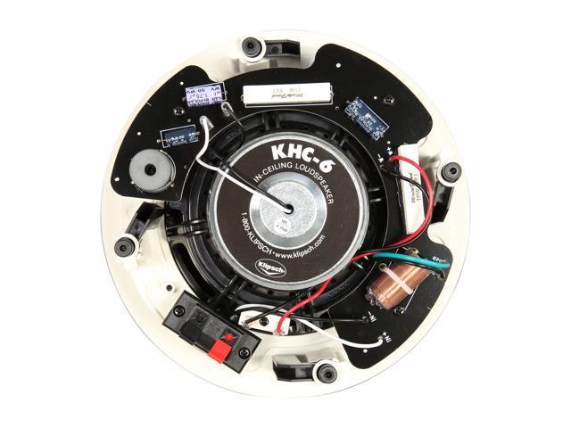 """Klipsch KHC-6 In-ceiling 6.5"""" Speaker White Pair"""