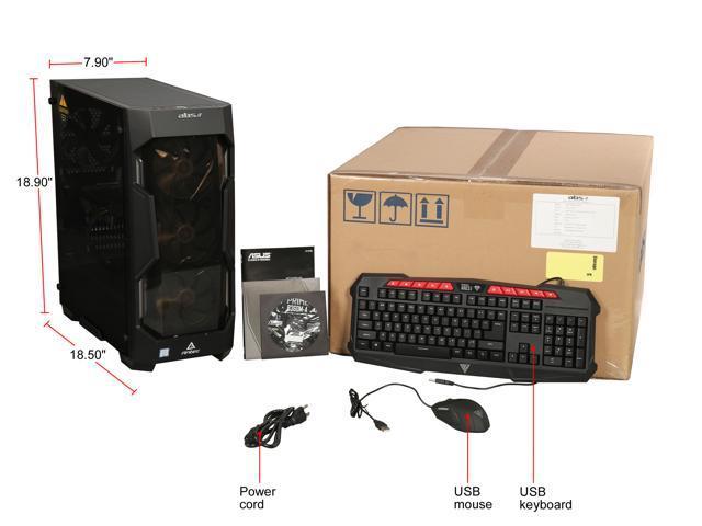 ABS Fleet NVIDIA GeForce RTX 2060 6 GB Intel i7-8700 (3.20 GHz) 6-Core 16 GB DDR4 240 GB SSD 1 TB HDD Windows 10 Home 64-bit Gaming PC ALI265