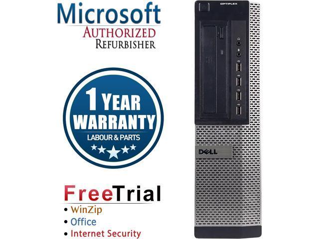 Refurbished: Refurbished Dell OPTIPLEX 790 Desktop Intel Core i5 2400 3.1 GHz / 8 GB DDR3 / 120 GB SSD / DVD / Windows 10 Pro 64-Bit / 1 Year Warranty