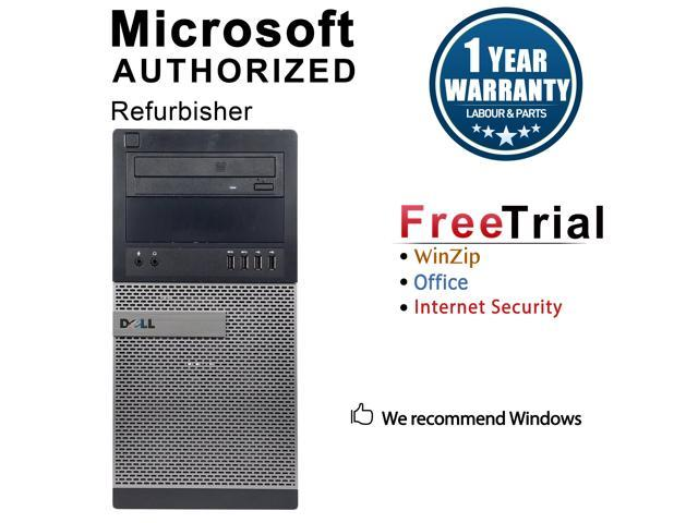 Refurbished: Refurbished Dell OptiPlex 7020 Tower Intel Core i5 4570 3.20 GHz / 8 GB DDR3 / 240G SSD / DVD / WIFI / Windows 10 Professional 64 Bit / 1 Year Warranty - OEM