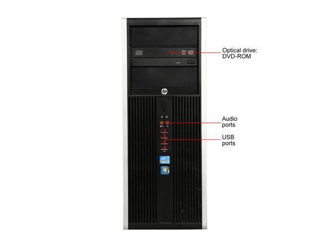 Refurbished: HP Grade B Desktop Computer 8300 Intel Core i3 2nd Gen 2130 (3.40 GHz) 4 GB DDR3 250 GB HDD Windows 10 Pro 64-Bit