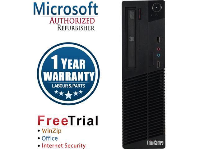 Refurbished: Refurbished Lenovo ThinkCentre M81 SFF Intel Core i5 2400 3.10 GHz / 8 GB DDR3 / 240 GB SSD / DVD / Windows 10 Pro 64-bit / 1 Year Warranty