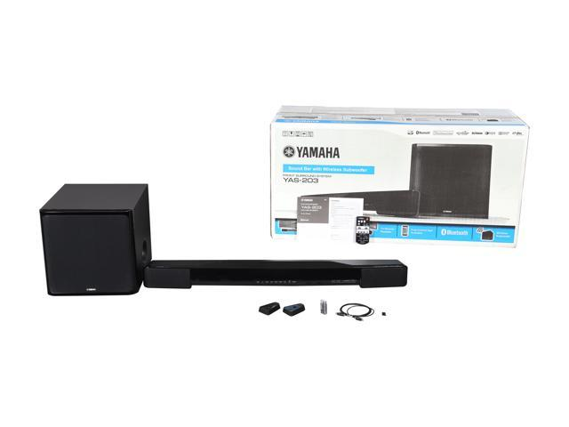 Yamaha YAS-203BL Soundbar with Wireless Subwoofer and Bluetooth