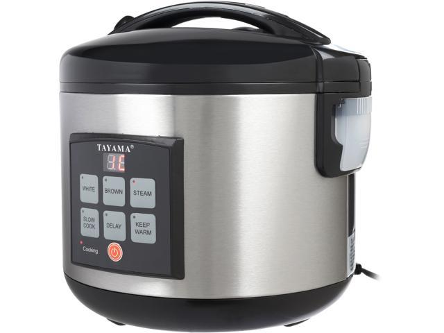 Tayama TRC-80 MICOM Digital Rice Cooker and Food Steamer, Black, 16 Cups cooked/8 Cups Uncooked