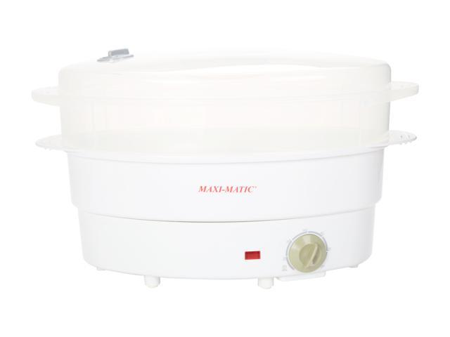MAXI-MATIC Electric Food Steamer, White TS-677