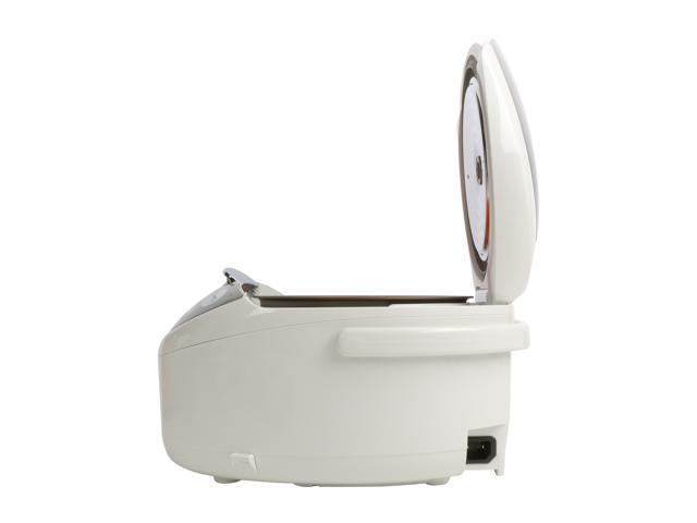 TIGER JAX-S10U Microcomputer Controlled Rice Cooker & Warmer, White, 11 Cups Cooked / 5.5 Cups Uncooked Made in Japan