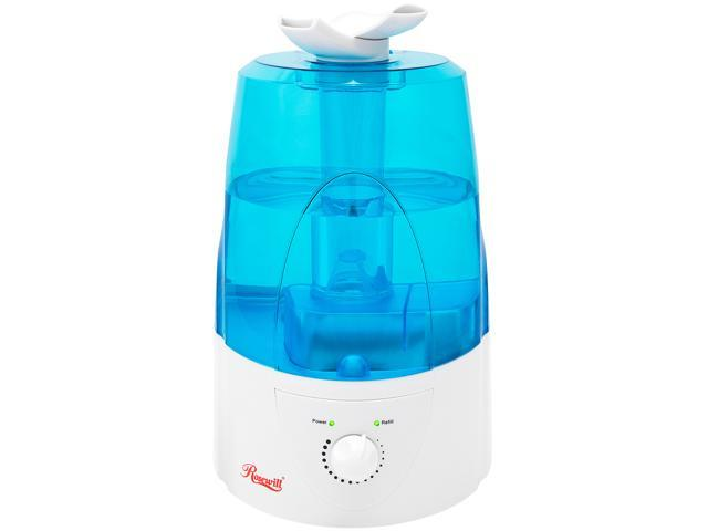 Rosewill RHHD-14001 - Ultrasonic Humidifier - Dual Cool Mist, Auto Shut-Off with LED Night Light, 1.3 Gallon (5L) Tank Capacity, White
