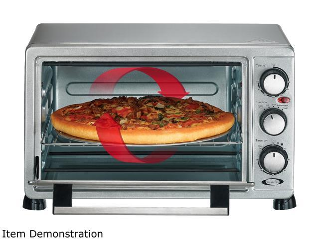 Rosewill 6 slice convection toaster oven countertop stainless steel large capacity for 12 inch for Toaster oven stainless steel interior