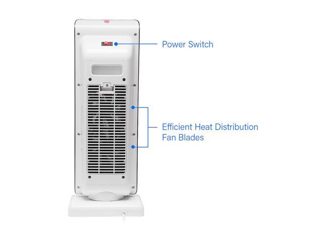 """Rosewill Electric Oscillating Tower Heater Fan with Thermostat / Portable Ceramic Space Heater with Remote Control, Digital Display, Timer, 1500W 22"""" Tall for Home or Office - RHTH-18001"""