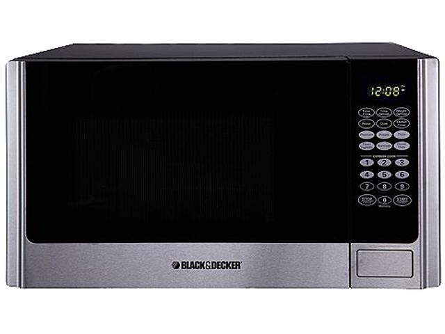 Black & Decker EM925AME-P1 0.9 cu.ft. 900W Microwave Oven, Stainless Steel/Black