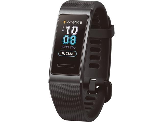 HUAWEI Band 3 Pro All-in-One Fitness Activity Tracker, 5ATM Water Resistance for Swim, 24/7 Heart Rate Monitor, Built-in GPS, Multi-Sports Mode, Sleep Tracking, Black (Terra-B19)