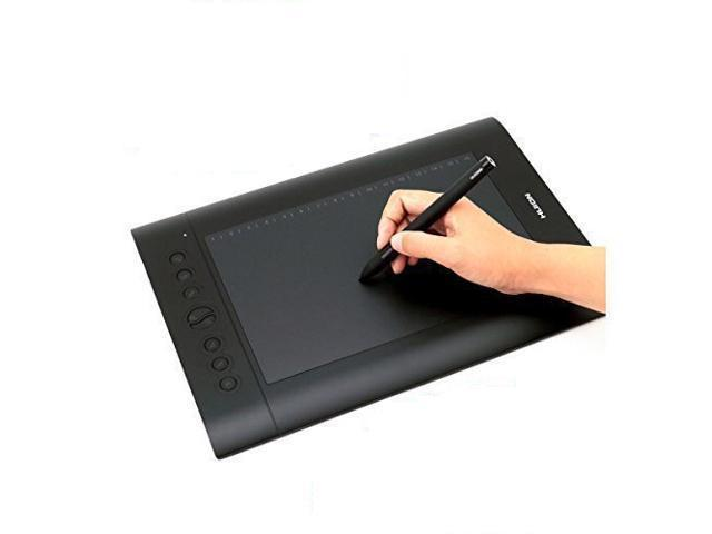 Huion H610 Pro 10 x 6.25 Inch Graphic Drawing Tablet with Pen, 8 Shortcut Keys, Carrying Bag, and Glove
