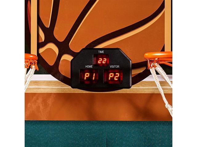 Lancaster EZ-Fold Indoor Basketball Hoop Shooting Arcade Game Set w/ Basketballs