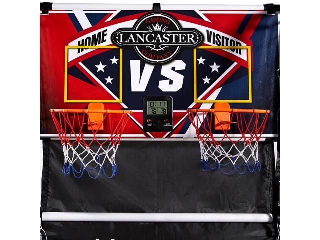 Lancaster 2 Player Junior Indoor Arcade Basketball Dual Hoop Shooting Game Set