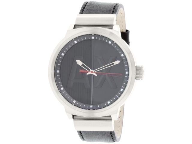 Armani Exchange Men's AX1361 Black Leather Quartz Watch