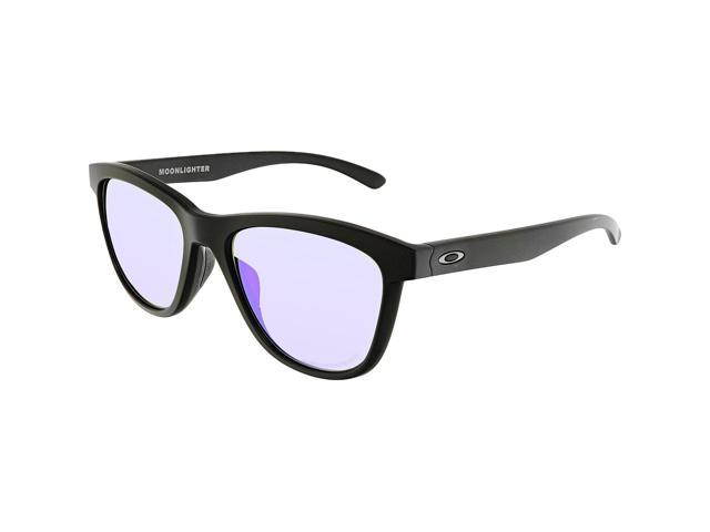 340871f7b3 ... Oakley Sun 0OO9320 Moonlighter Round Woman Sunglasses - Size 53 (Matte  Black   Violet Iridium