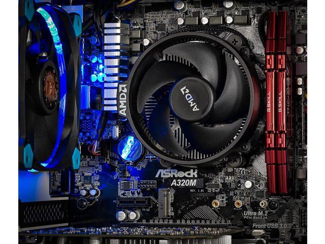 SkyTech Omega Mini Gaming Computer Desktop PC AMD Ryzen 5 1400 3.2 GHz, GTX 1050 Ti 4G, HP 500GB SSD with 3D NAND, 16GB DDR4 2400, A320 Motherboard, Win 10 Home (Ryzen 5 1400 | GTX 1050 TI | 500G SSD)