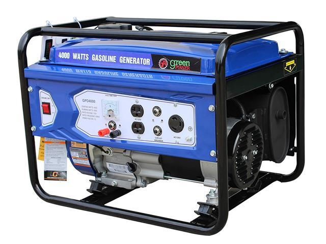 Green-Power America Gasoline Generator Consumer's Select Series GPD4000W delivers 4000 watts of starting power and 3000 watt of continious power.