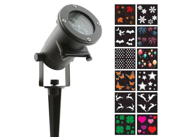 Night Stars Celebration Series High Power LED Motion Projection Light w/ 12 Interchangeable Slides LL01-HC
