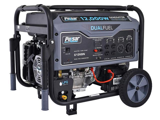 Pulsar 12,000W Dual Fuel Portable Generator in Space Gray with Electric Start, G12KBN