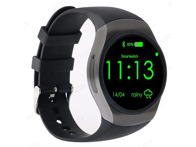 AGPtEK KW18 Bluetooth Smart Watch Phone, 1.3 inches IPS AMOLED Round Touch Screen Water Resistant with SIM Card Slot,  Support SIM TF Sleep Monitor,Heart Rate Monitor and Pedometer for IOS Smart Phone