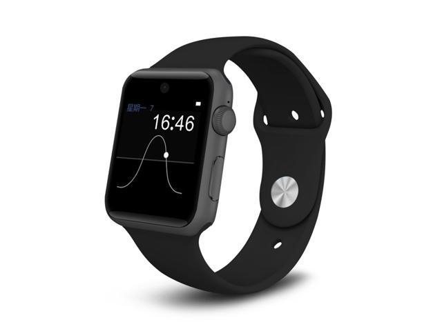 Bluetooth Smart Watch with SIM Card Slot 2.5D ARC HD Screen Smartphone Fitness Tracker Wearable Devices for IOS iPhone, Android Samsung HTC Sony LG Smartphones (Black)