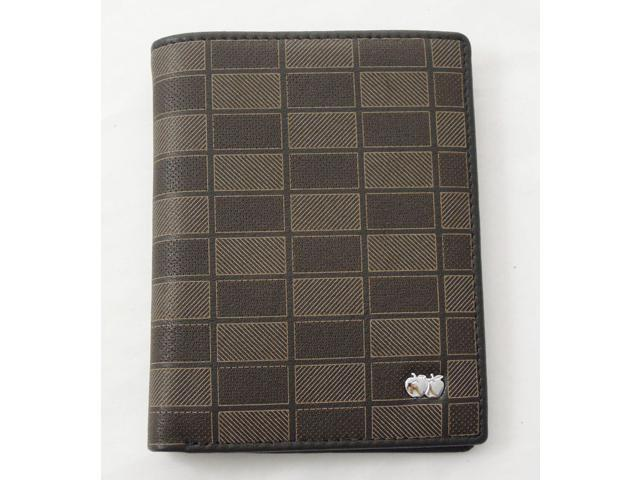Simplicity Men's Genuine Leather Wallet Pockets Bifold Plaid Wallet