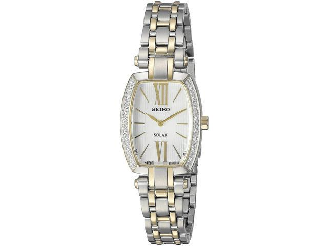 Seiko Tressia Two-Tone Stainless Steel Womens watch #SUP284