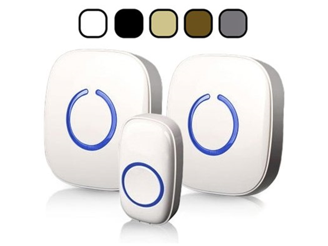 SadoTech Model CXR Wireless Doorbell with 1 Remote Button and 2 Plugin Receivers