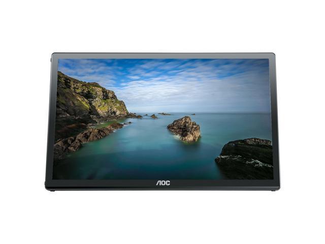 "Refurbished: AOC E1759FWU-R 17.3"" Portable LED Monitor, USB 3.0 Powered Monitor 1600x900 Res 220 cd/m2 Brightness"