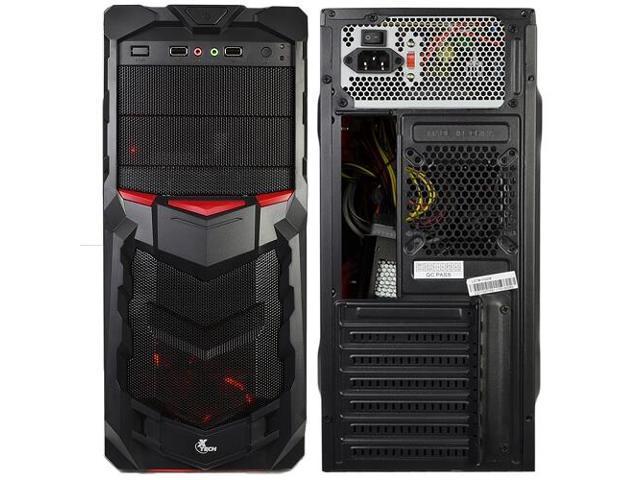 Xtech Power Gamer II 800W 8 Bay ATX Case USB Keyboard Mouse Headset Speakers