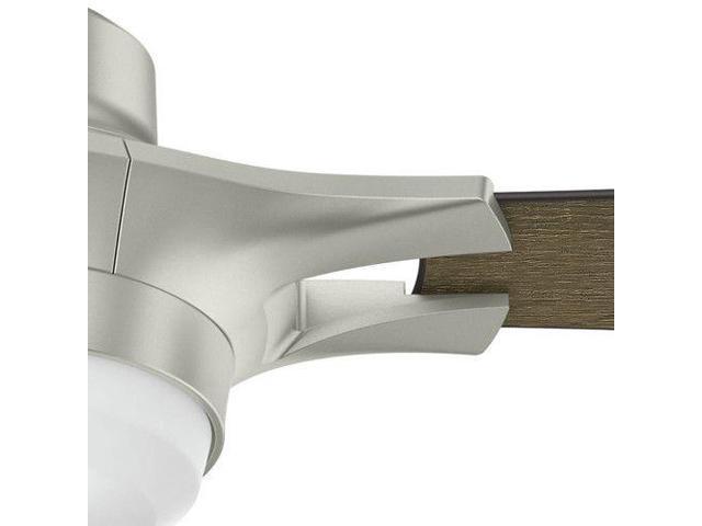 """Hunter WiFi Enabled HomeKit Compatible  54"""" Signal Matte Nickel Ceiling Fan"""