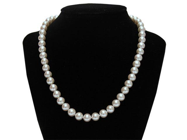 "Mabella Fashion HT-P3A1401 17.5"" Freshwater Pearl Necklace 8-8.5mm AAA Quality 14k Solid White Gold Clasp"
