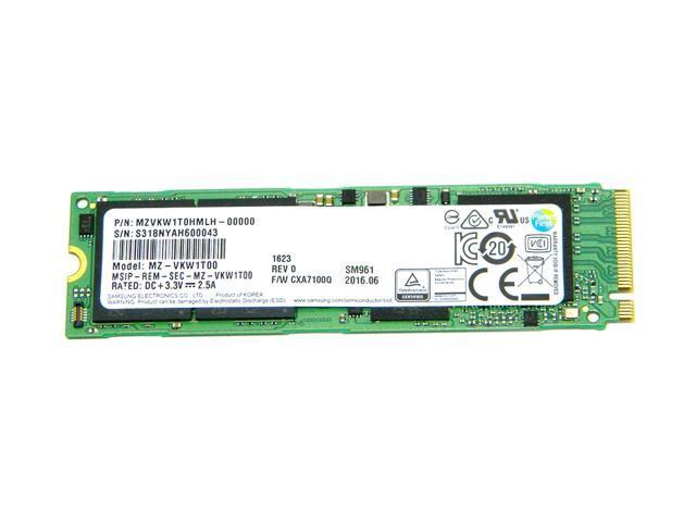 Samsung 1TB SM961 Single Sided Polaris V-NAND MLC 80mm (2280) M.2 PCI Express 3.0 x4 (PCIe Gen3 x4) NVMe OEM SSD - MZVKW1T0HMLH