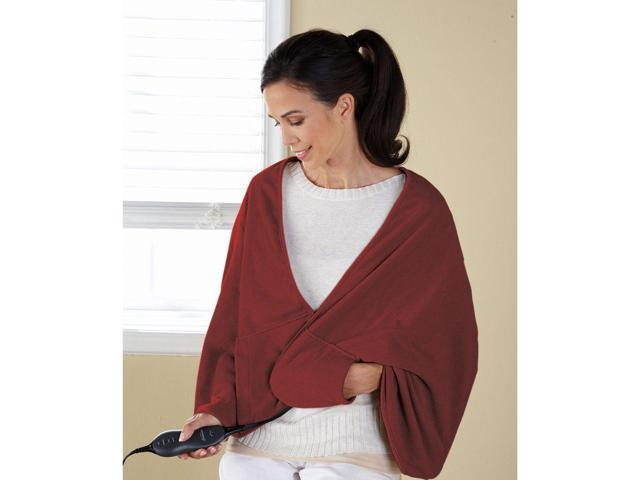 Sunbeam TCFQR-310-44 Premium Luxury Royal Mink Chill-Away Heated Wrap Garnet Red