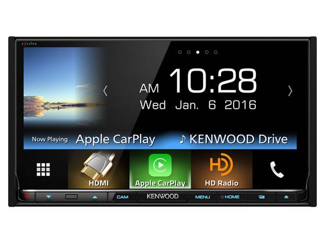 "Kenwood DDX9903S 6.95"" eXcelon Double-DIN with Apple CarPlay and Android Auto"
