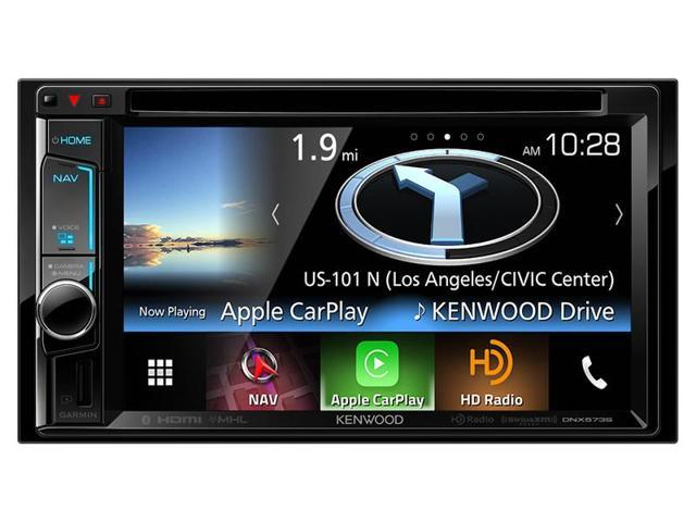 """Double DIN Navigation In-Dash DVD/CD/AM/FM Car Stereo w/ 6.8"""" Touch Screen with Built-in HD Radio and Bluetooth"""