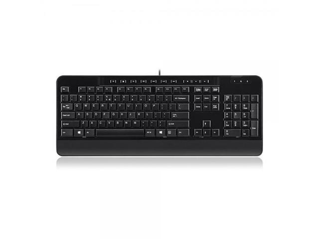 Perixx PERIBOARD-209 Business Keyboard - 10 Hot Multimedia Hot Keys - USB - 1.8 M - US English Layout